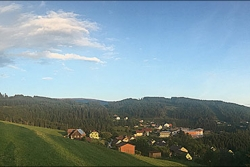 Panorama of Knappenberg with Rainbow